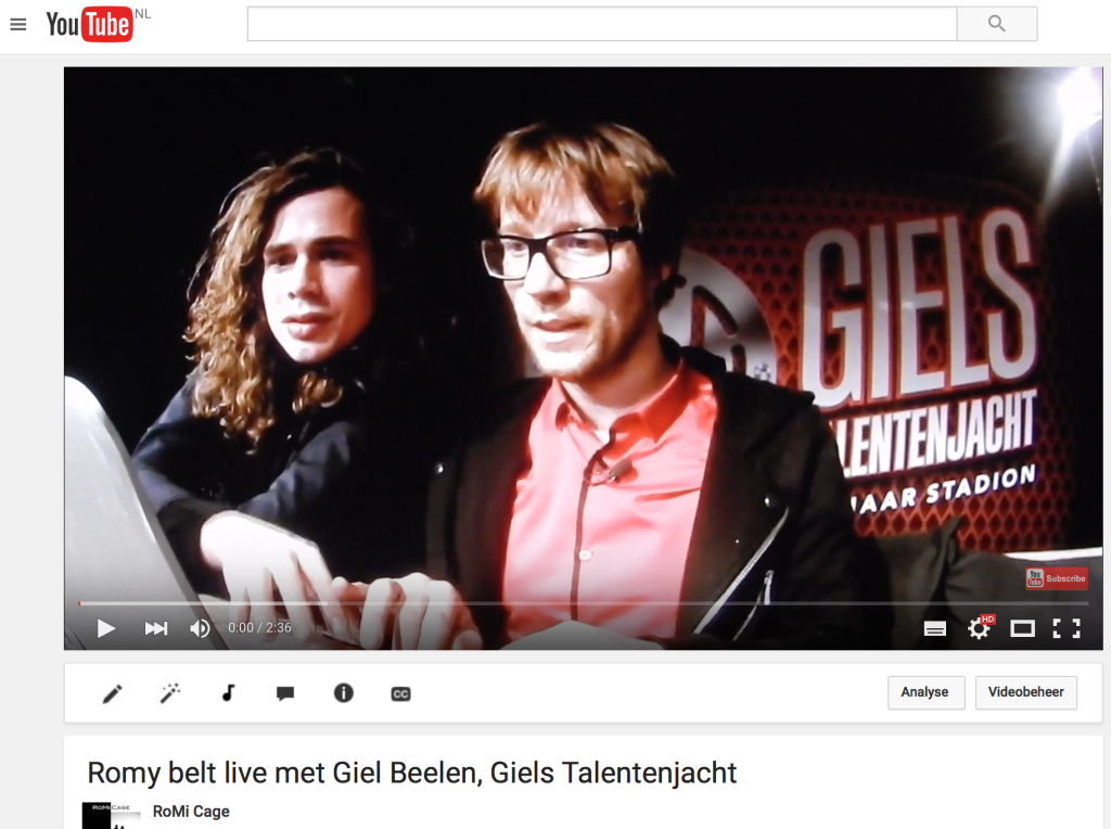 RoMi Cage-Giel Beelen-GTJ-Giels Talentenjacht